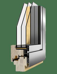 vidok legno alluminio